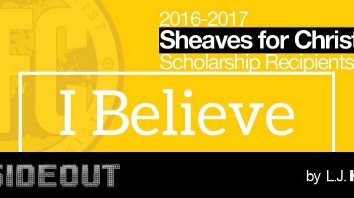 2016-2017 Sheaves for Christ Scholarship Recipients